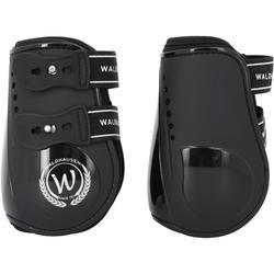 Set met 2 open pees- + 2 kogelbeschermers Premium ruitersport paard zwart