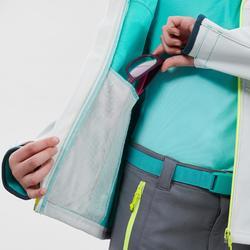 Softshell jas kinderen MH550 grijs 7-15 jaar