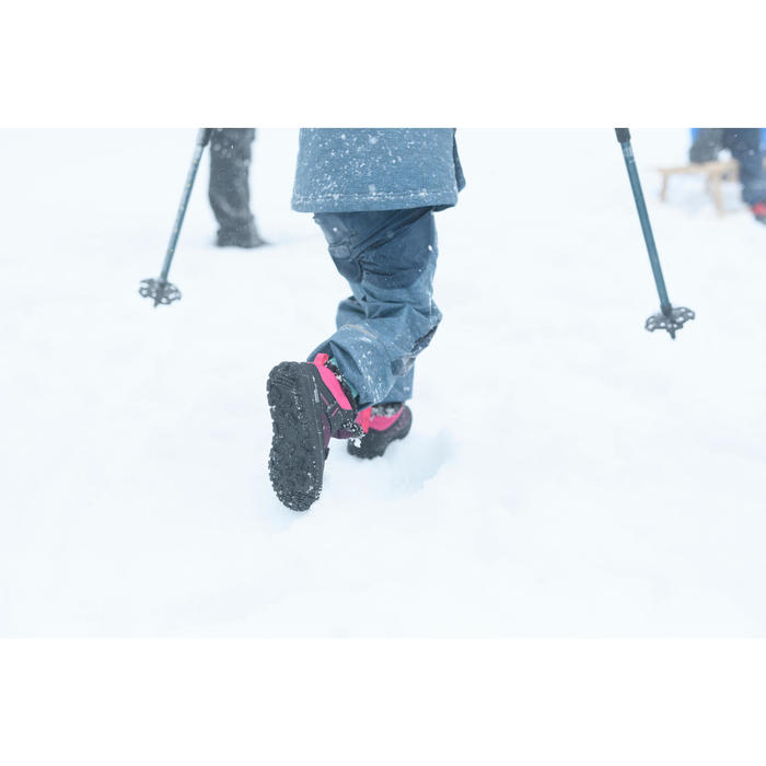 SH100 Warm Kids' Hiking Boots - Pink