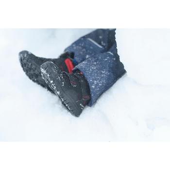 Warme wandelschoenen voor de sneeuw kinderen SH100 Warm klittenband mid zwart