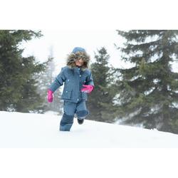 Chaqueta cálida impermeable de senderismo nieve SH500 U-WARM niño 2-6 años azul