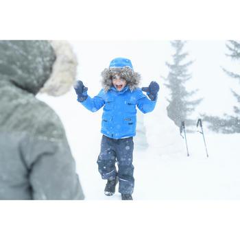 Warme waterdichte wandeljas voor de sneeuw jongens SH500 U-warm 2-6 jaar blauw