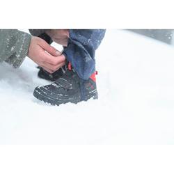 Chaussures chaudes de randonnée neige enfant SH100 warm scratch mid noires