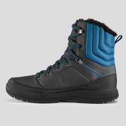 Men's Winter Hiking Shoes Warm High SH100 - Grey Blue.