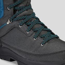 Chaussures de randonnée neige homme SH100 warm high grises bleues.