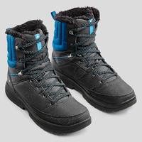 Chaussures de randonnée d'hiver homme SH100 chaudes hautes grises bleues.