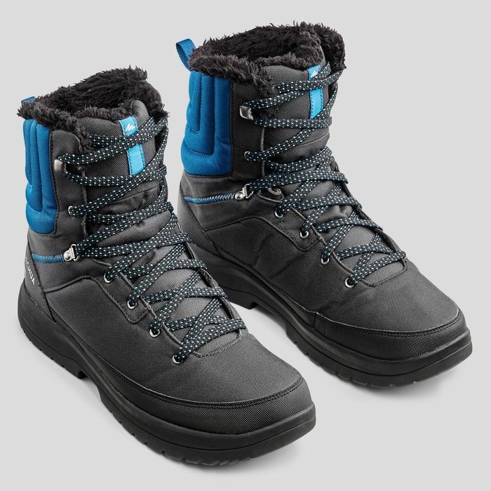 Snowboots heren SH100 Warm high grijs/blauw