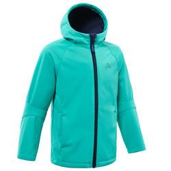 Veste softshell de randonnée enfant MH550 Turquoise 2-6 ans
