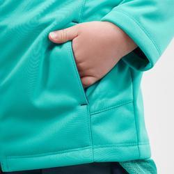 Veste softshell de randonnée - MH550 KID Turquoise - enfant