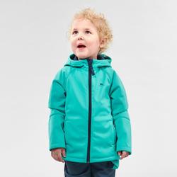 Softshell jas voor wandelen kinderen MH550 turquoise 2-6 jaar