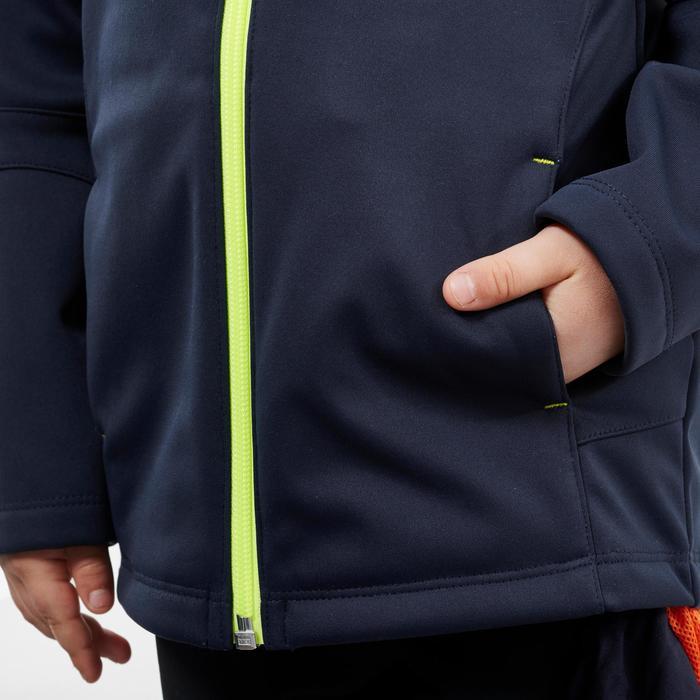 Softshell jas voor wandelen kinderen blauw 2-6 jaar