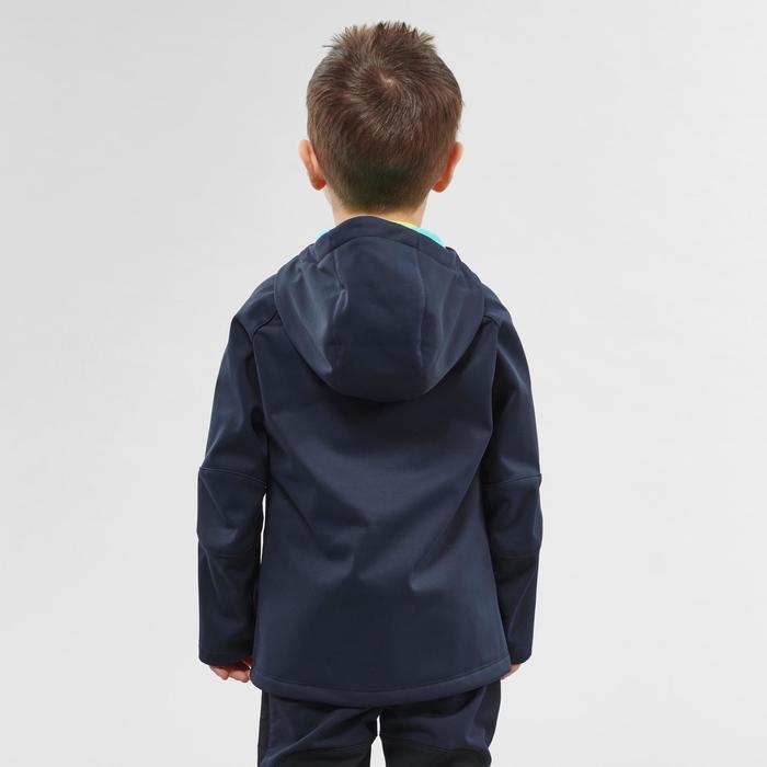 Veste softshell de randonnée - MH550 bleue marine - enfant 2 - 6 ans