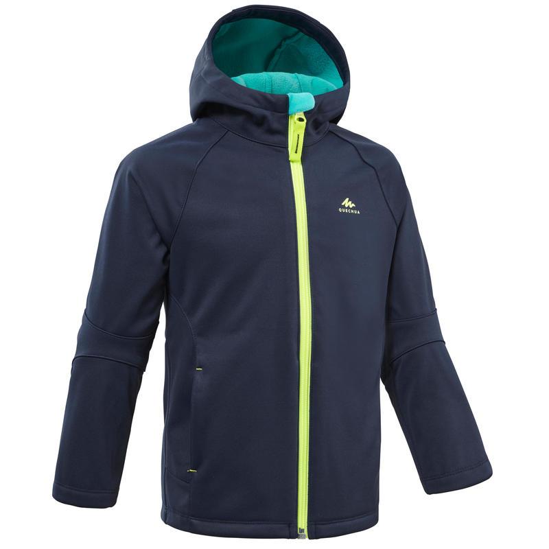 Куртка софтшелл походная MH550 детская 2–6 лет