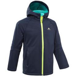 Children's age 2-6 years softshell hiking jacket - blue