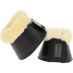 2 open springschoenen schapenwol ruitersport zwart voor pony's en paarden