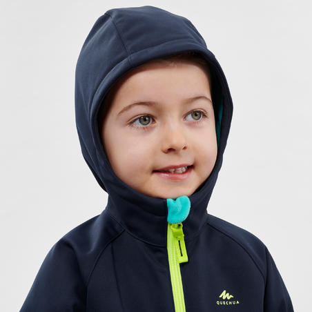 Куртка-софтшел для туризму, для дітей 2-6 років - Синя