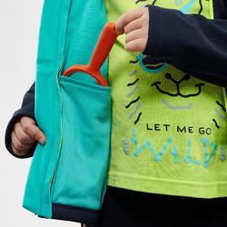 Veste de randonnée enfant softshell bleue 2-6 ans
