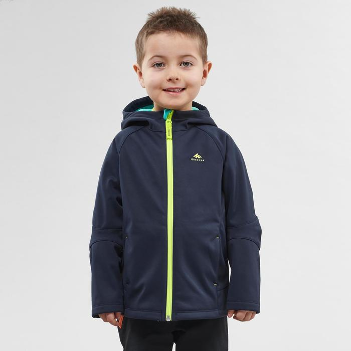 Kids' Softshell Hiking Jacket MH550 2-6 Years - Navy Blue