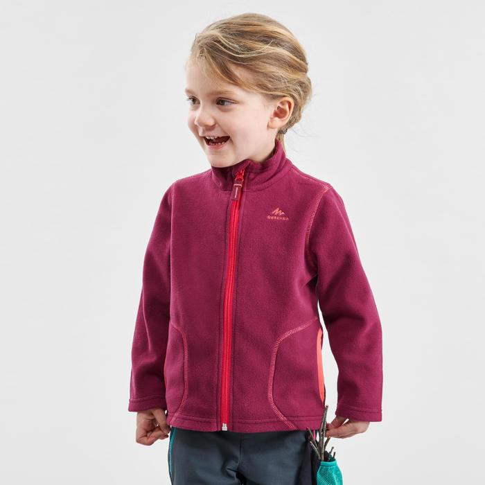 Fleecejacke Wandern MH150 Kleinkinder Mädchen 89–122cm violett