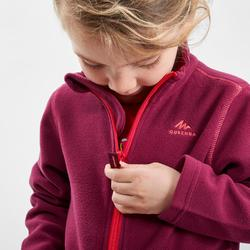 Fleece jas voor skiën en wandelen voor kinderen 2-6 jaar MH150 paars