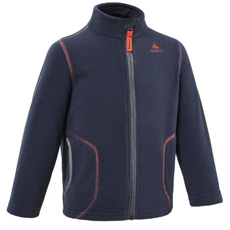 Hiking fleece jacket - MH150 - Navy blue - children 2-6 years