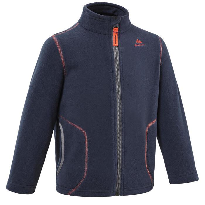 Fleece vest voor wandelen kinderen MH150 marineblauw 2-6 jaar