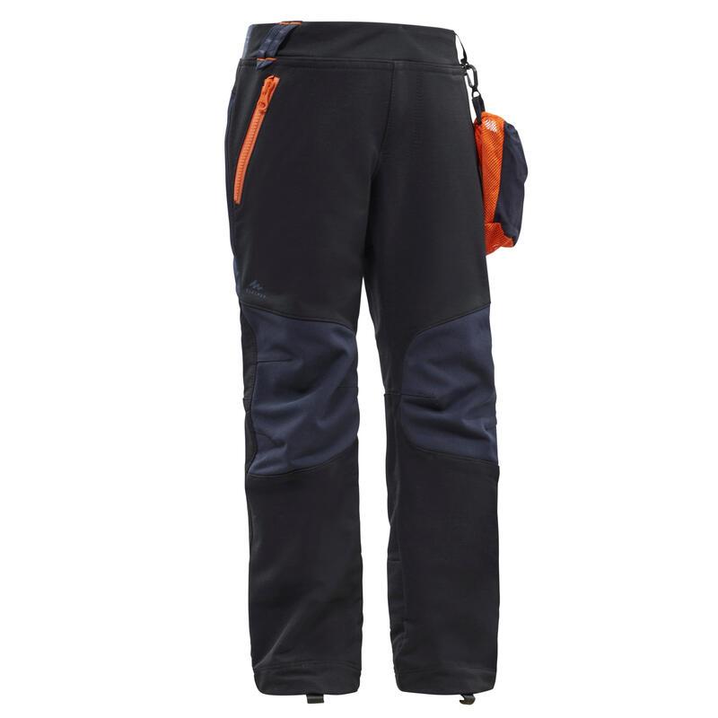 Dětské turistické softshellové kalhoty MH550 černé