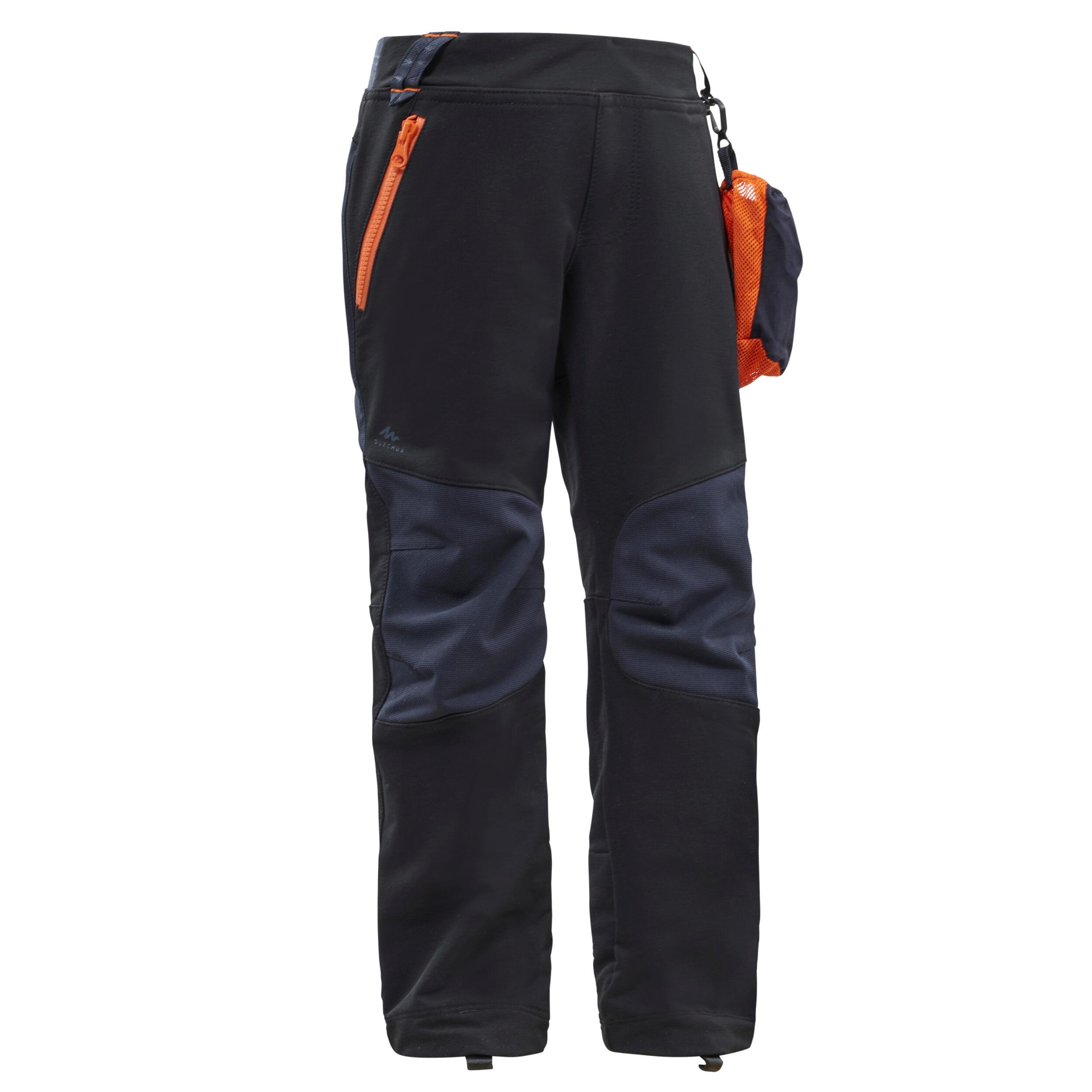 Pantalon softshell de randonnée enfant mh500 noir 2 6 ans quechua