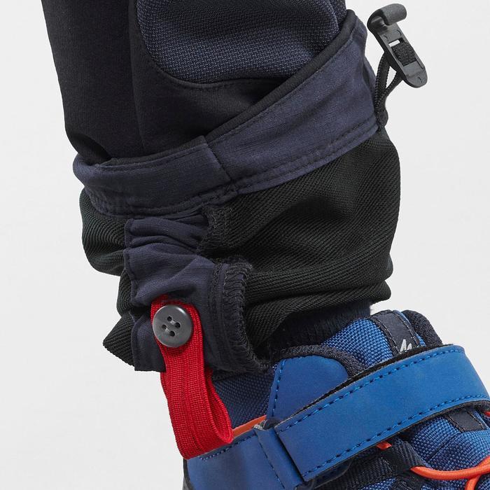 Pantalon softshell de randonnée enfant MH500 Noir 2-6 ans