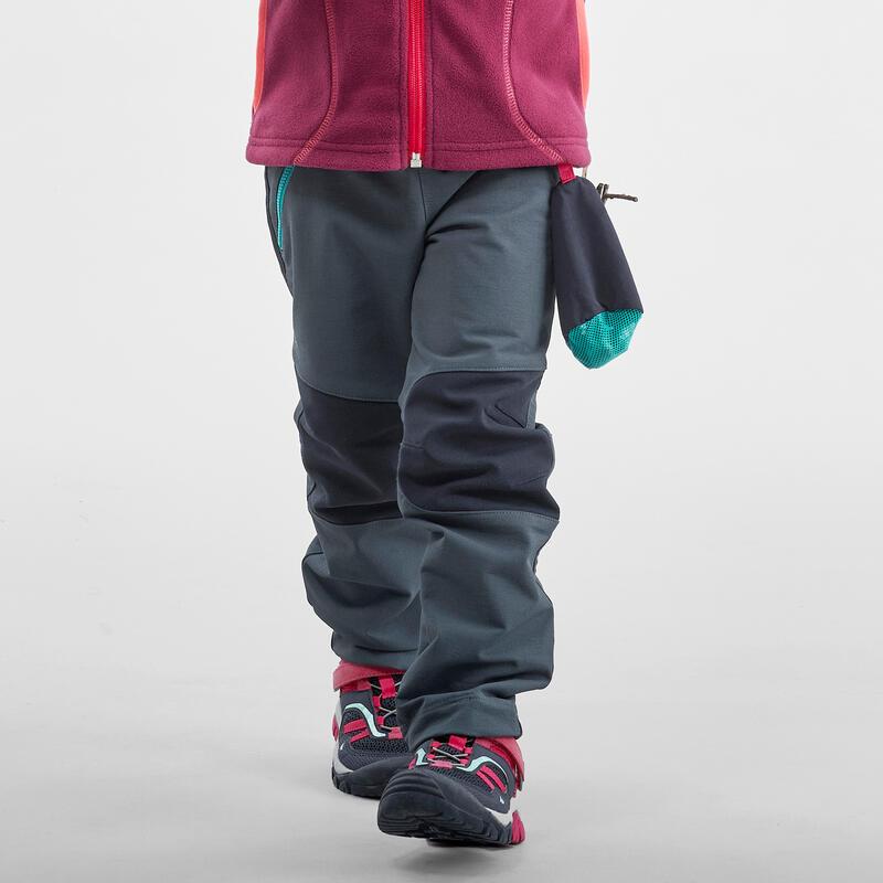 Pantalón Niños Montaña y Senderismo Softshell Quechua MH550 2 a 6 Años