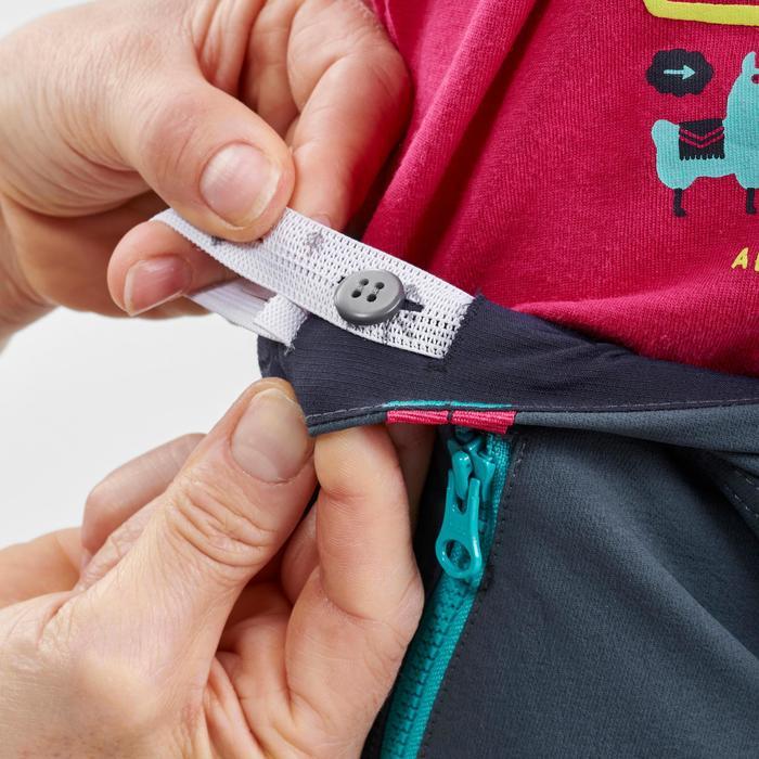 Softhell broek voor wandelen kinderen MH500 grijs 2-6 jaar