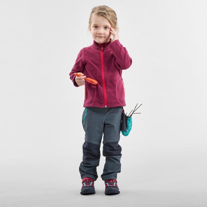Pantalón Softshell de senderismo júnior MH500 gris 2-6 años