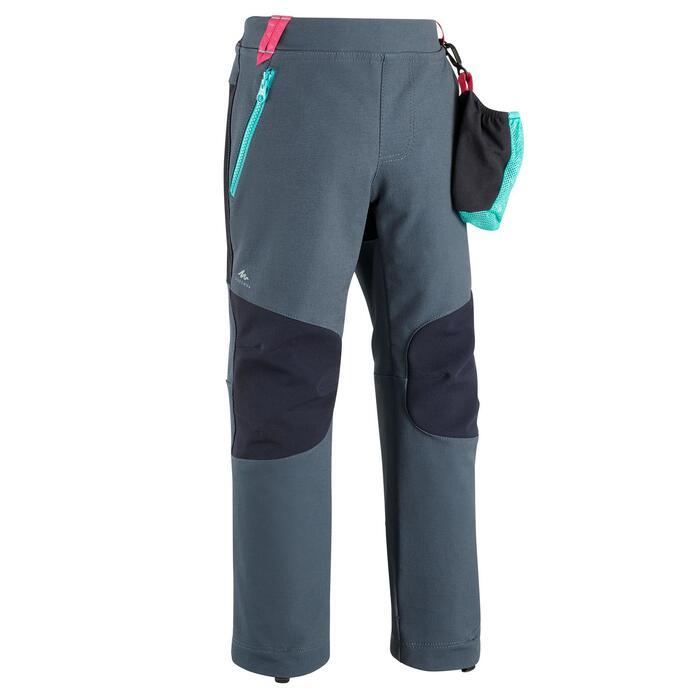 Pantalones De Montana Trekking Ninos 2 6 Anos Quechua Mh500 Gris Azul Softshell Quechua Decathlon