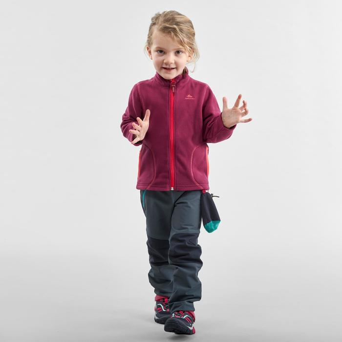 Kids Softshell Hiking Trousers MH500 Age 2-6 - Grey