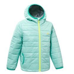 2到6歲兒童款健行鋪棉外套MH500-淺碧藍色