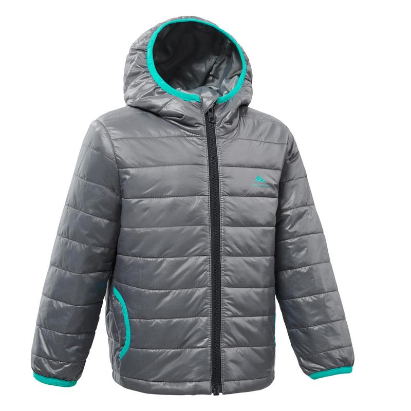 Kids' Hiking Padded Jacket MH500 2-6 Years - Grey