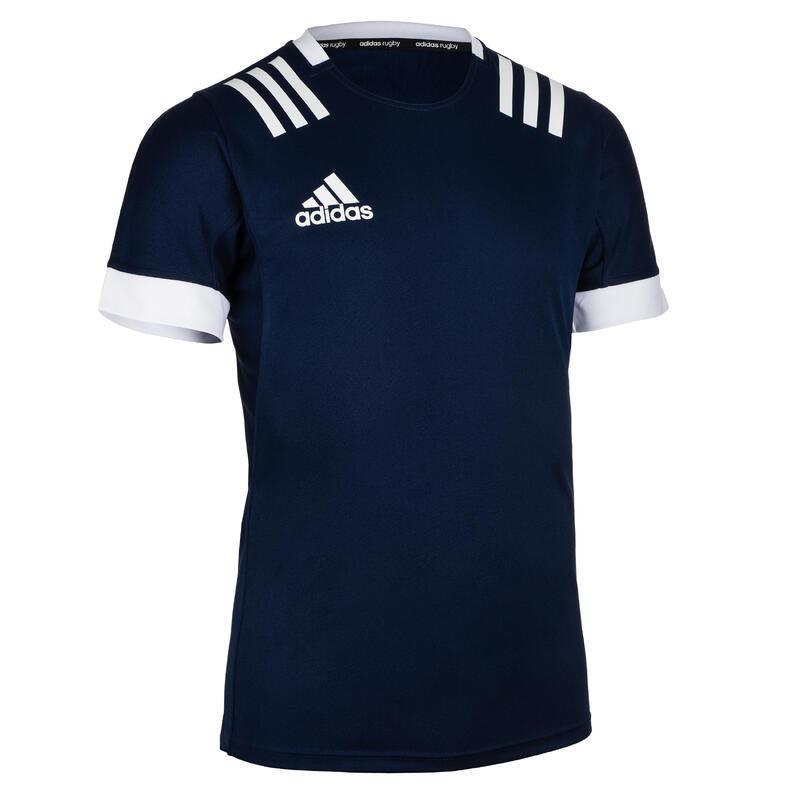 Maillot Manches courtes de rugby 3S homme Bleu Adidas