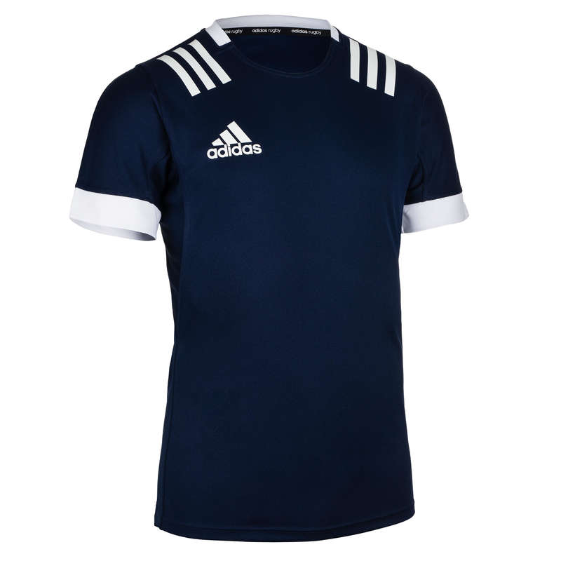 APPAREL RUGBY MEN Rugby - 3S Jersey - Blue ADIDAS - Rugby Clothing