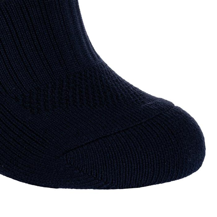 Chaussettes hautes de rugby enfant R500 bleu
