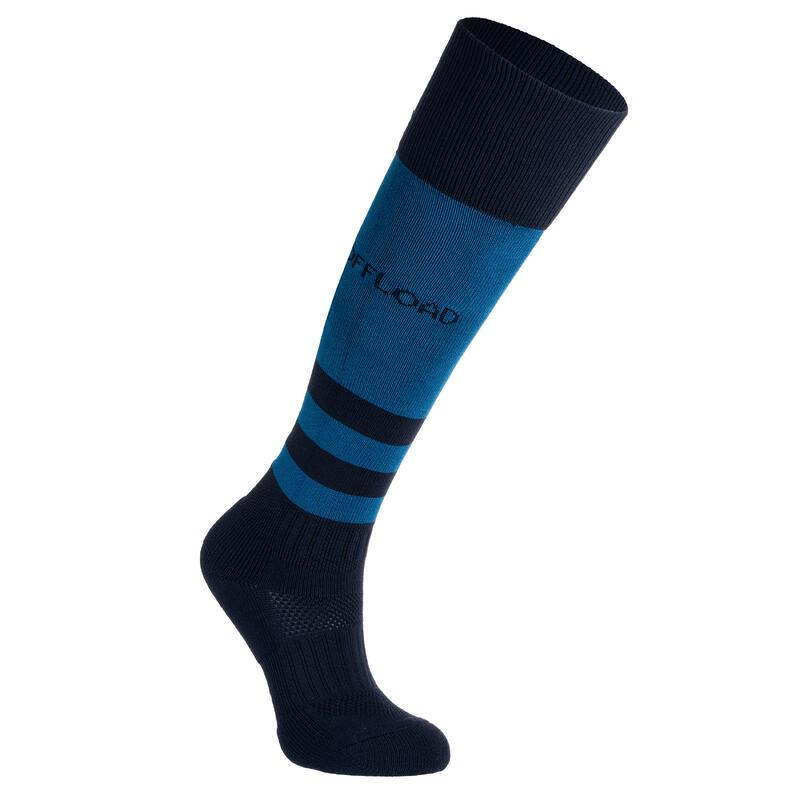 Calzettoni lunghi rugby junior R500 blu