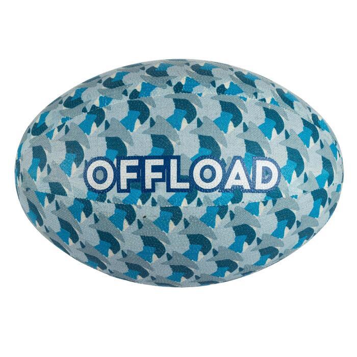 Vrijetijdsbal rugby 100 stof maat 3 blauw