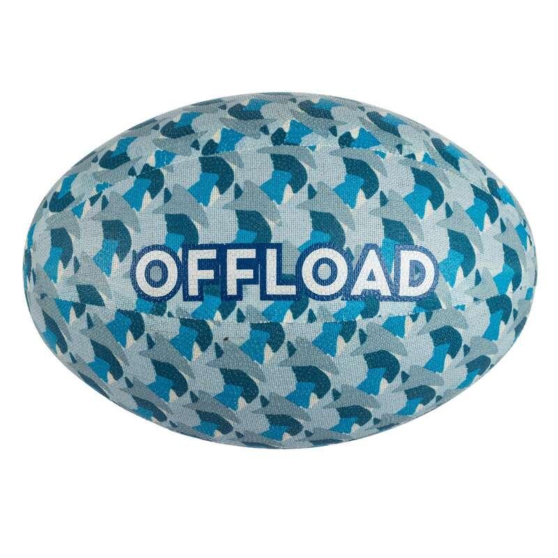 PALLONI, ACCESSORI RUGBY Sport di squadra - Pallone rugby R100 T3 blu OFFLOAD - Palloni Rugby e Materiale Allenamento