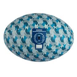BALLON LOISIR TISSU RUGBY 100 TAILLE 3 bleu