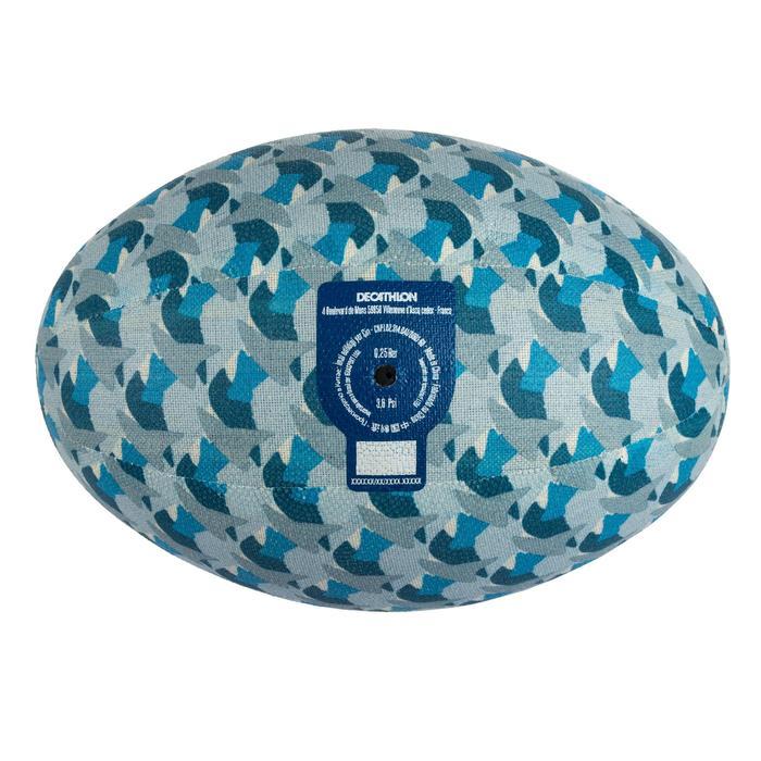 Balón de Rugby Offload 100 textil talla 3 azul
