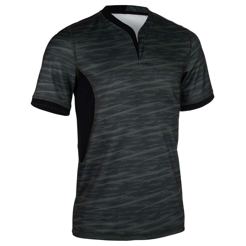 APPAREL RUGBY MEN Rugby - Men's Jersey R500 - Khaki OFFLOAD - Rugby Clothing