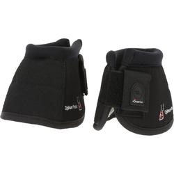 Optimum Protect Horse Riding Pony and Horse Open Overreach Boots 2-Pack - Black