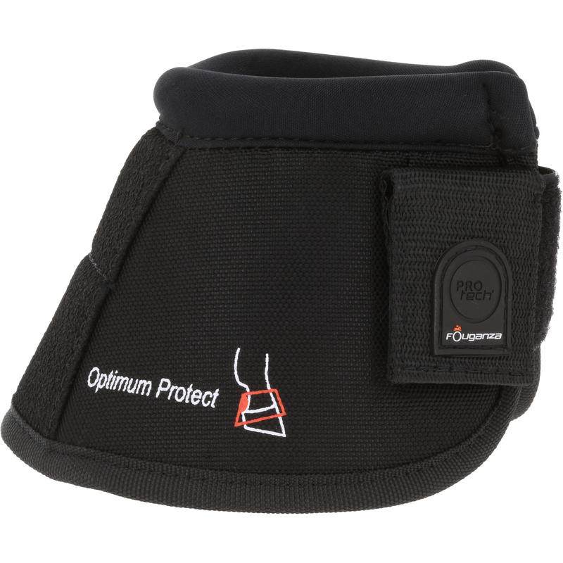 Optimum Horse Riding Open Overreach Boots For Horse And Pony Twin-Pack - Black