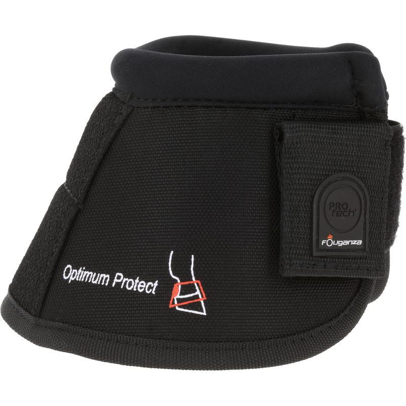 2 cubre cascos abiertos equitación caballo y poni OPTIMUM PROTECT negro