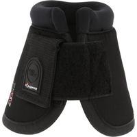 מגפיים פתוחים למניעת פציעות בעקב Optimum Protect. רכיבת סוסים ופוני במארז 2-שחור