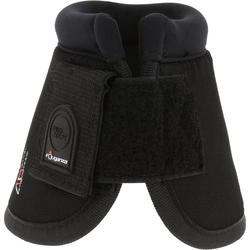 Optimum Horseback Riding Open Overreach Boots for Horse/Pony Twin-Pack - Black